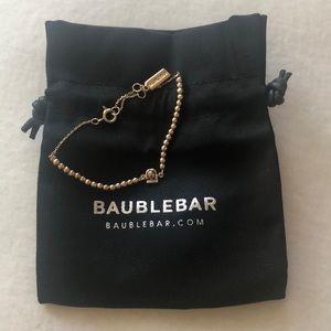 Bauble Bar emoji gold toned bracelet